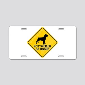 Rottweiler On Board Aluminum License Plate