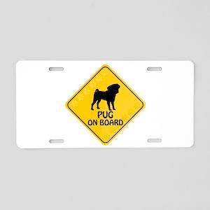 Pug On Board Aluminum License Plate