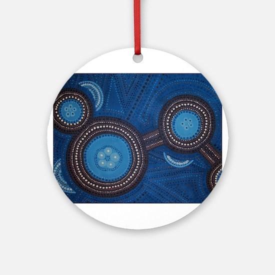 Australian Aboriginal Inspired Art Ornament (Round