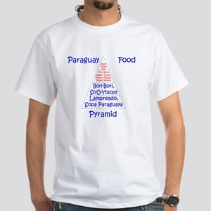 Paraguay Food Pyramid White T-Shirt