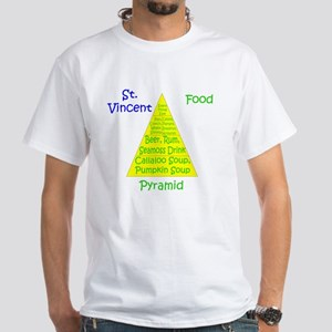 St. Vincent Food Pyramid White T-Shirt