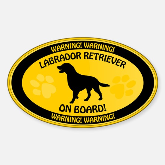 Labrador On Board 2 Sticker (Oval)