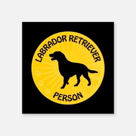 """Labrador Person Square Sticker 3"""" x 3"""""""