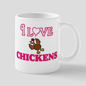 I Love Chickens Mugs