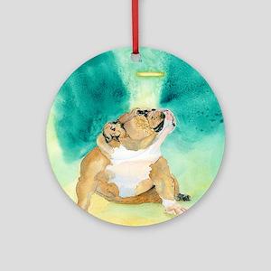Bulldog Rufus Ornament (Round)