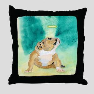 Bulldog Rufus Throw Pillow