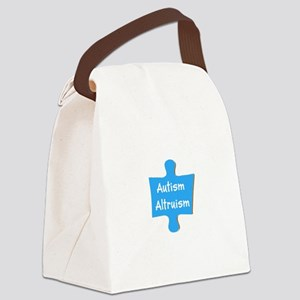 Support Autism Altruism Blue Puzzle Canvas Lunch B