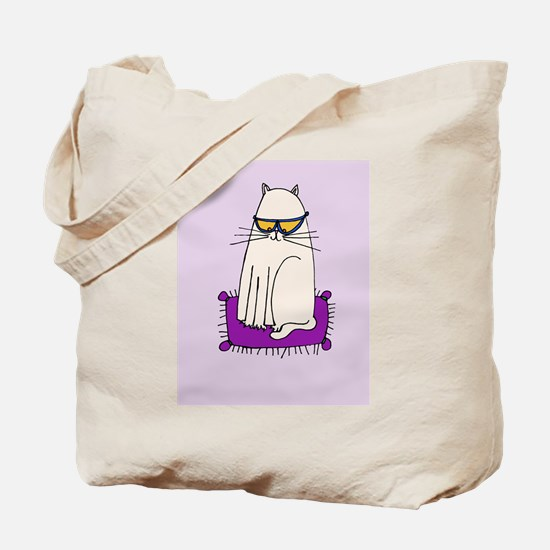 Morrissey the Cat with glasses Tote Bag