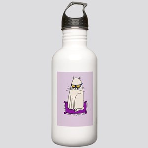 Morrissey the Cat with glasses Water Bottle
