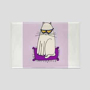 Morrissey the Cat with glasses Rectangle Magnet