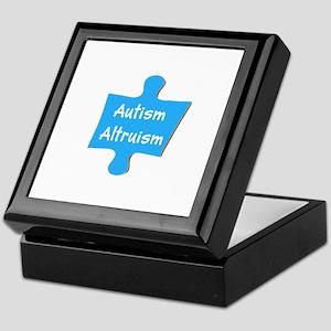 Practice Autism Altruism Blue Puzzle Keepsake Box