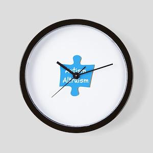Practice Autism Altruism Blue Puzzle Wall Clock