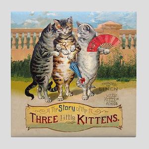 The Three Little Kittens Tile Coaster