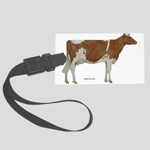 Guernsey Milk Cow Large Luggage Tag