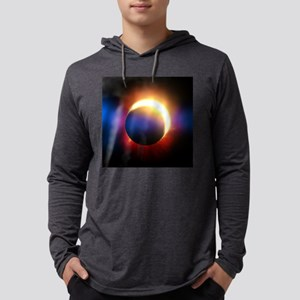 Solar Eclipse Mens Hooded Shirt