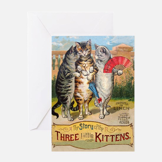 Three Little Kittens Lost Their Mittens Greeting C