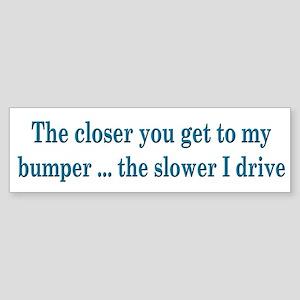 Driver Warning Bumper Sticker