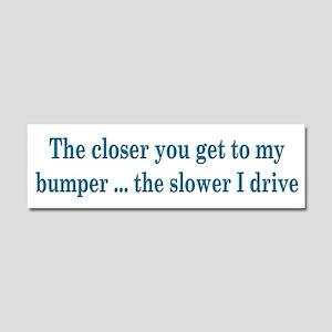 Driver Warning Car Magnet 10 x 3