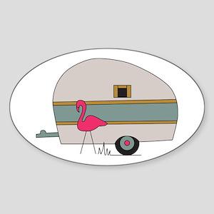 Camper Flamingo Sticker