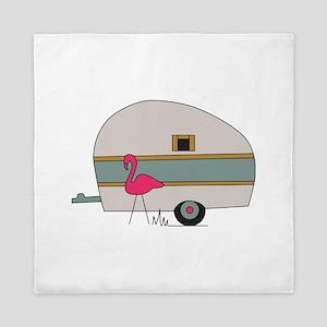 Camper Flamingo Queen Duvet