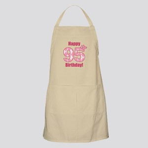 Happy 95th Birthday - Pink Argyle Apron