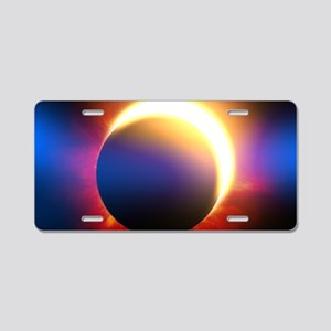 Solar Eclipse Aluminum License Plate