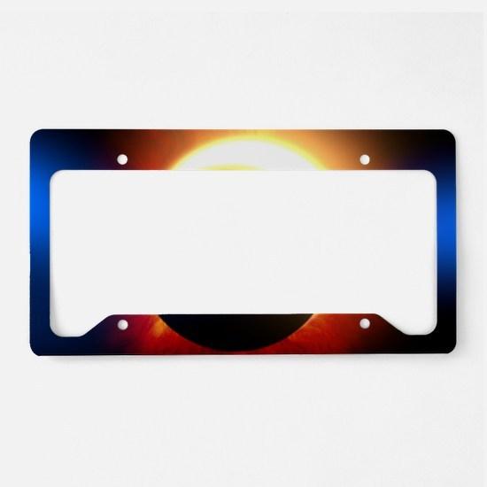 Solar Eclipse License Plate Holder