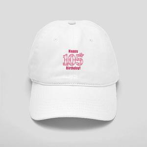 Happy 105th Birthday - Pink Argyle Baseball Cap