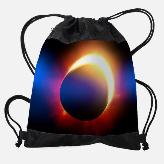 Solar Eclipse Drawstring Bag