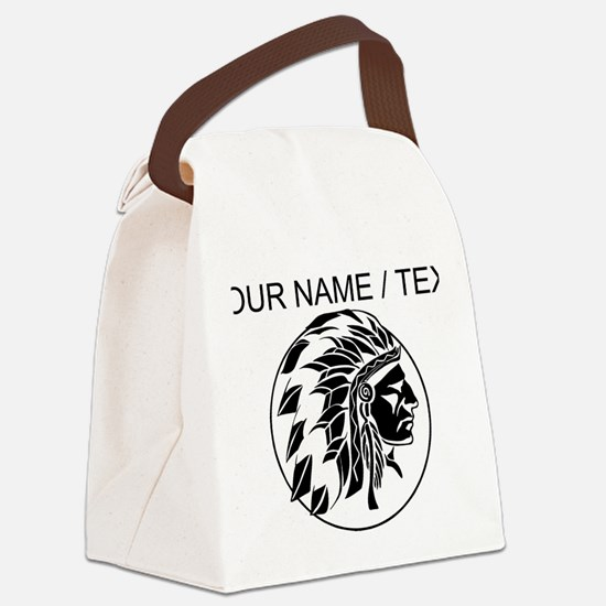Custom Native American Headdress Canvas Lunch Bag