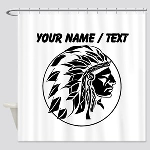 Custom Native American Headdress Shower Curtain