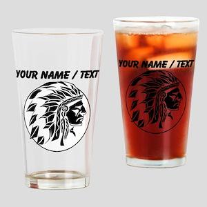 Custom Native American Headdress Drinking Glass