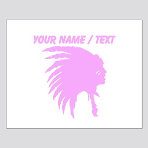 Custom Pink Indian Headdress Outline Posters
