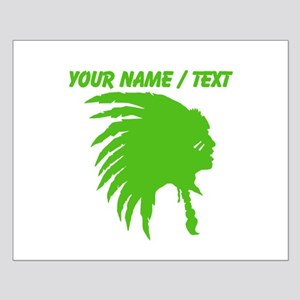 Custom Green Indian Headdress Outline Posters