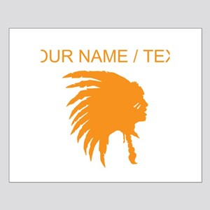 Custom Orange Indian Headdress Outline Posters