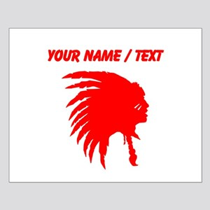 Custom Red Indian Headdress Outline Posters