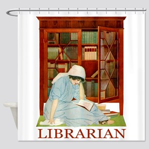 LIBRARIAN by Coles Phillips Shower Curtain