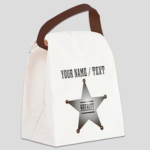 Custom Sheriff Badge Canvas Lunch Bag