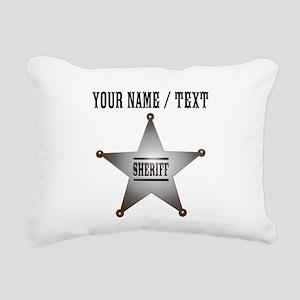 Custom Sheriff Badge Rectangular Canvas Pillow