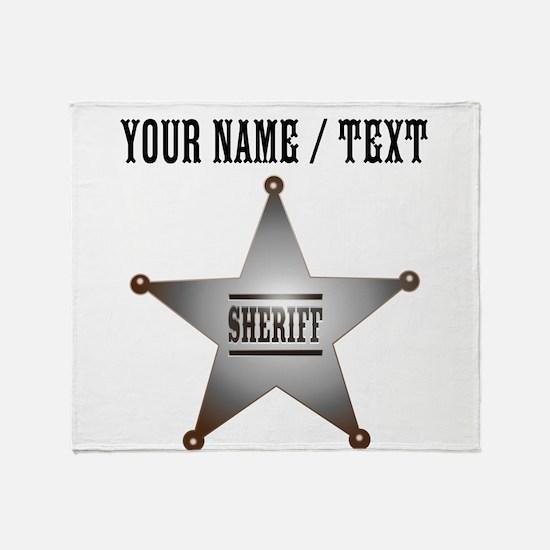 Custom Sheriff Badge Throw Blanket