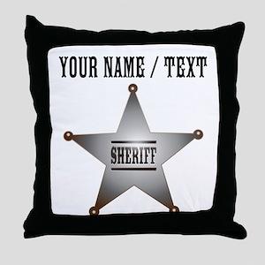 Custom Sheriff Badge Throw Pillow