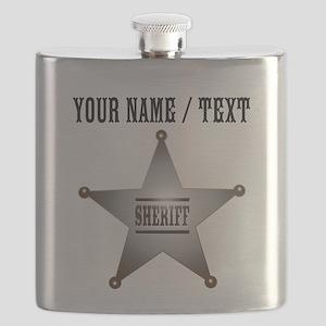 Custom Sheriff Badge Flask