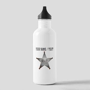 Custom Sheriff Badge Water Bottle