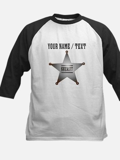 Custom Sheriff Badge Baseball Jersey