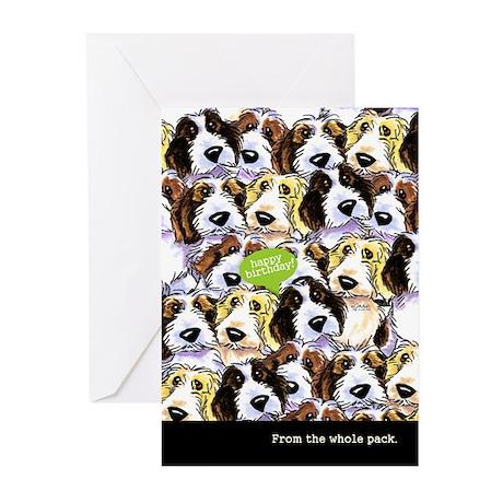 Funny Birthday from Group PBGV Greeting Cards (Pk