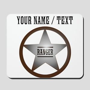 Custom Ranger Badge Mousepad