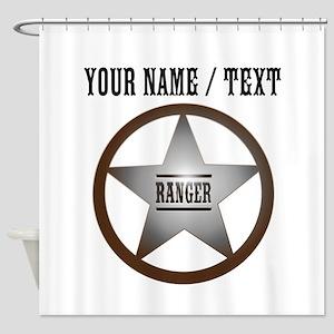 Custom Ranger Badge Shower Curtain