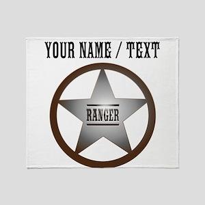 Custom Ranger Badge Throw Blanket