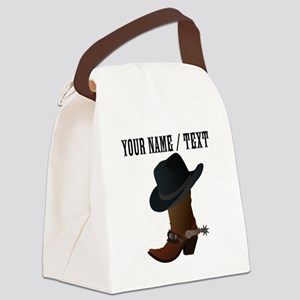 Custom Cowboy Boot And Hat Canvas Lunch Bag