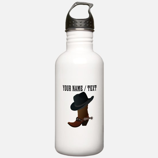Custom Cowboy Boot And Hat Water Bottle